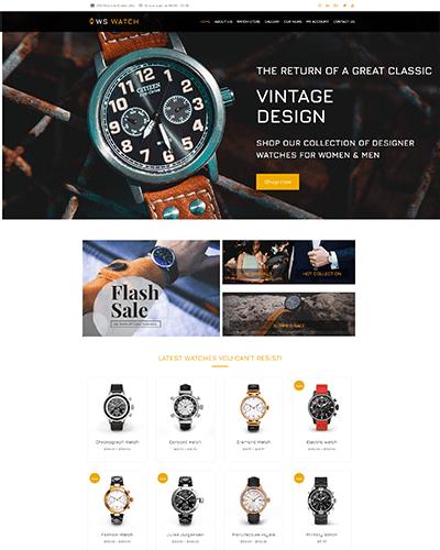 WS Watch – Responsive Watch WooCommerce WordPress theme