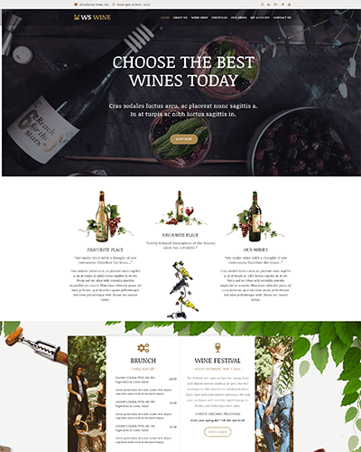 WS Wine – Responsive Wine Store WooCommerce WordPress theme