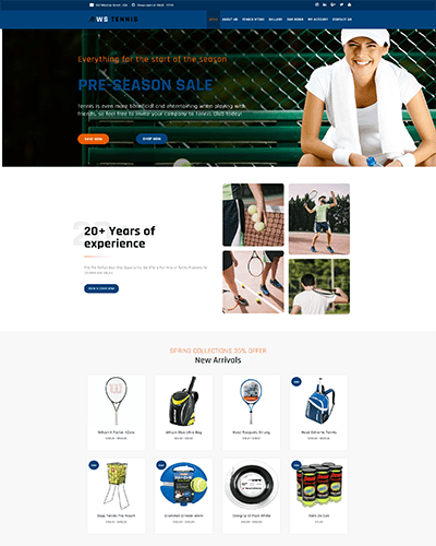 WS Tennis – Responsive Tennis WooCommerce WordPress theme