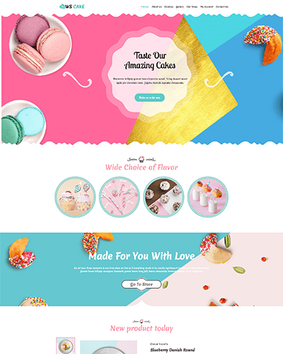 WS Cake – Responsive Cake WordPress theme
