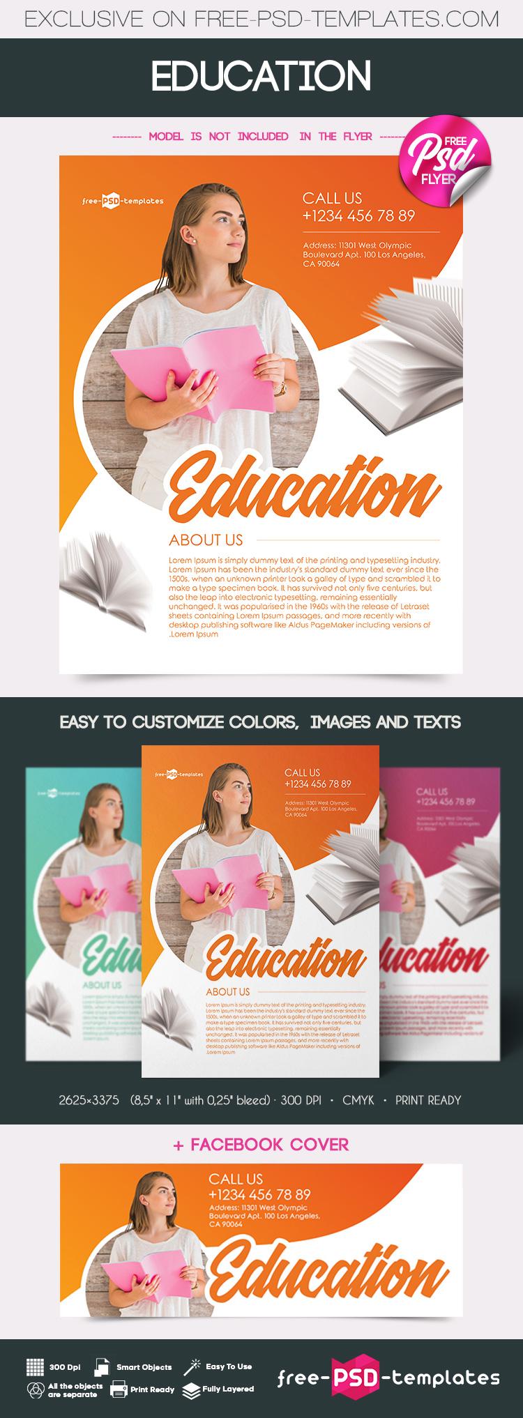 Free Education Flyer Templates Responsive Joomla And Wordpress Themes