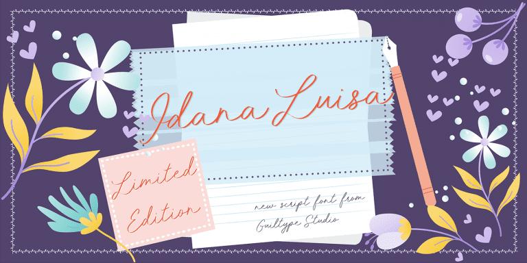 Idana Luisa Calligraphy Script Font