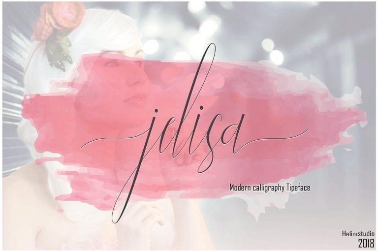 Jelisa Handwritten Calligraphy Font