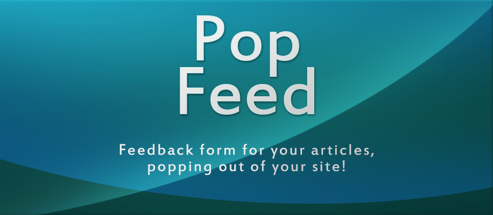 PopFeed Joomla Articles Comments Extension
