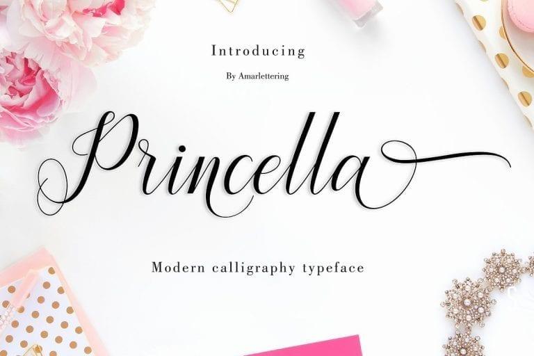 Princella Gorgeous Calligraphy Script Font
