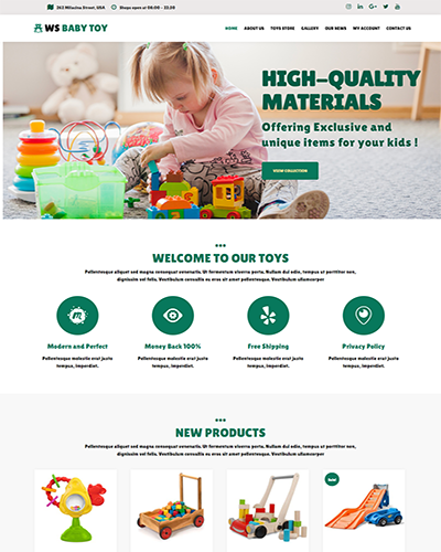 WS Toy – Responsive Baby WooCommerce WordPress theme