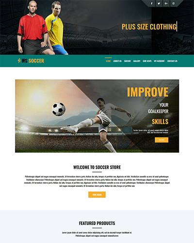 WS Soccer – Responsive Sport Clubs WooCommerce WordPress theme