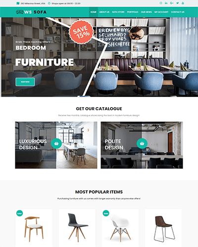 WS Sofa – Responsive Interior Shop WooCommerce WordPress theme