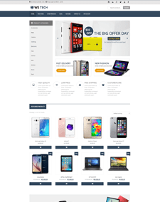 WS Tech – Responsive Hi-Tech Store WooCommerce WordPress theme