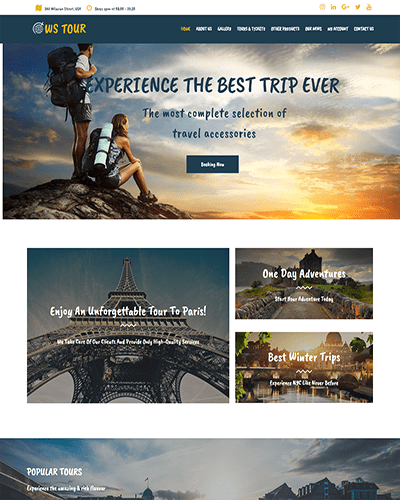 WS Tour – Responsive Travel Booking WooCommerce WordPress theme
