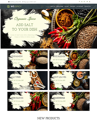 WS Spicy – Responsive Food WooCommerce WordPress theme