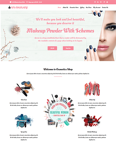 WS Cosmaty – Responsive Cosmetics Store WooCommerce WordPress theme