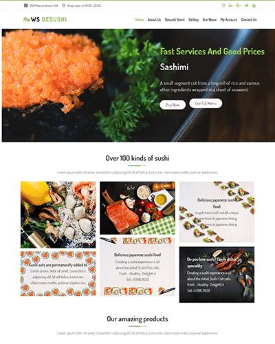 WS Desushi – Responsive Sushi Restaurant Woocommerce WordPress theme