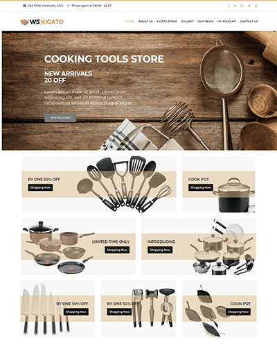 WS Kigato – Responsive kitchen wordpress themes