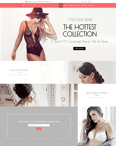 WS Lingerie – Responsive Clothes WooCommerce WordPress theme