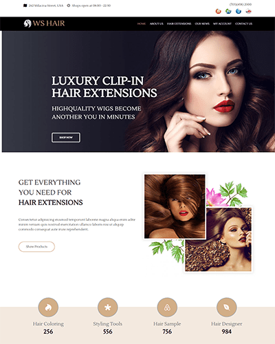 WS Hair – Responsive hair salon wordpress theme