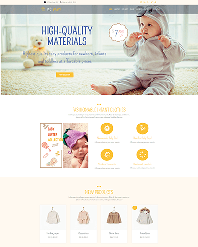 WS Baby – Free Woocommerce Baby Store WordPress theme