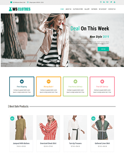 WS Clothes – Responsive Fashion WooCommerce WordPress theme