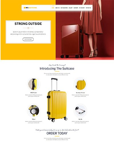 WS Suitcase – Responsive WordPress Travel Bag template