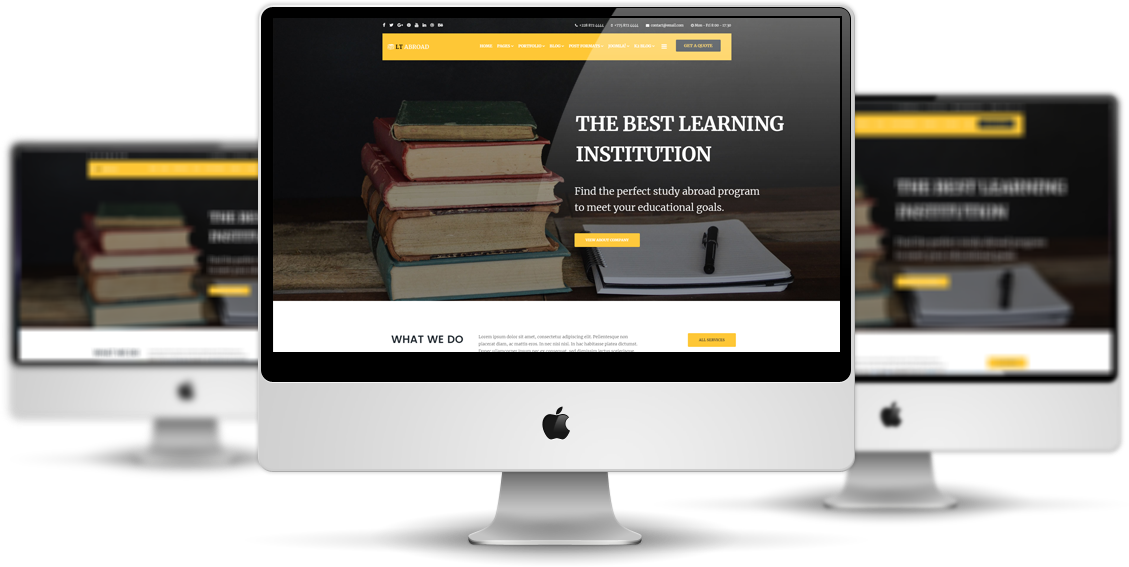 LT Abroad - Premium Private Joomla Education template