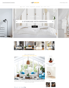 LT Decor – Free Responsive WordPress Interior Decorating Themes