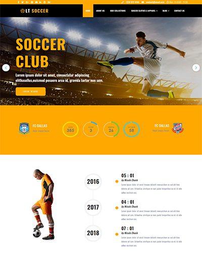 LT Soccer – Free Responsive sport wordpress theme