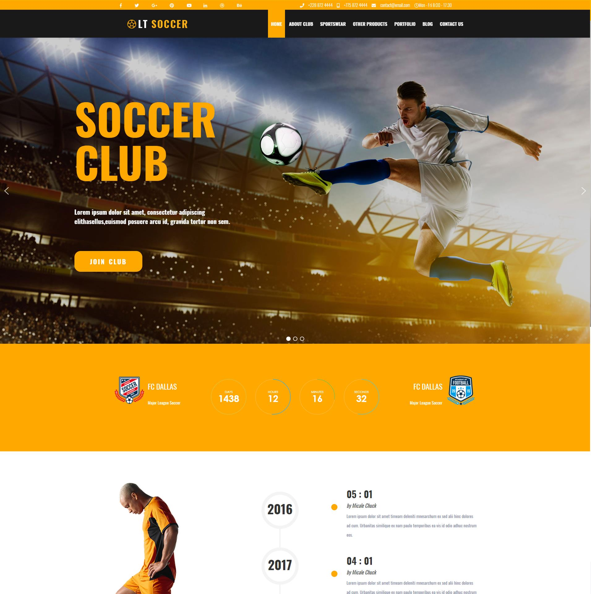 LT Soccer–WordPress Football theme
