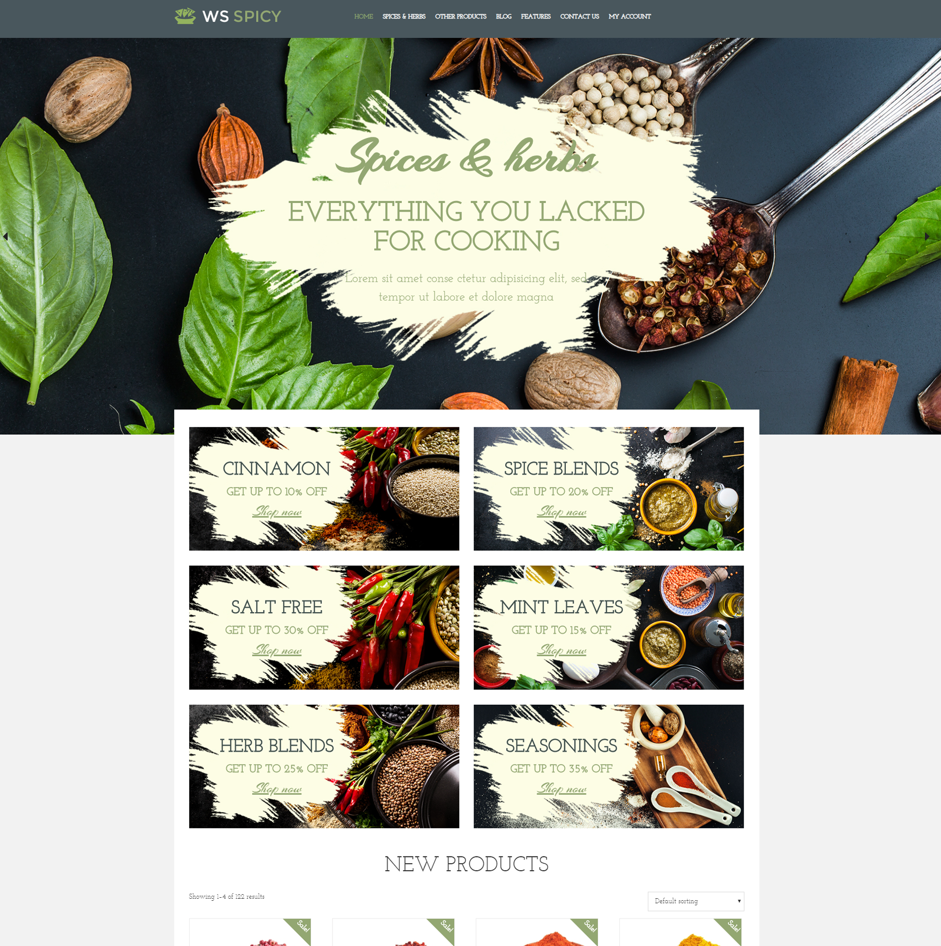 WS Spicy – Responsive Spices Store WooCommerce Wordpress theme - LTHEME