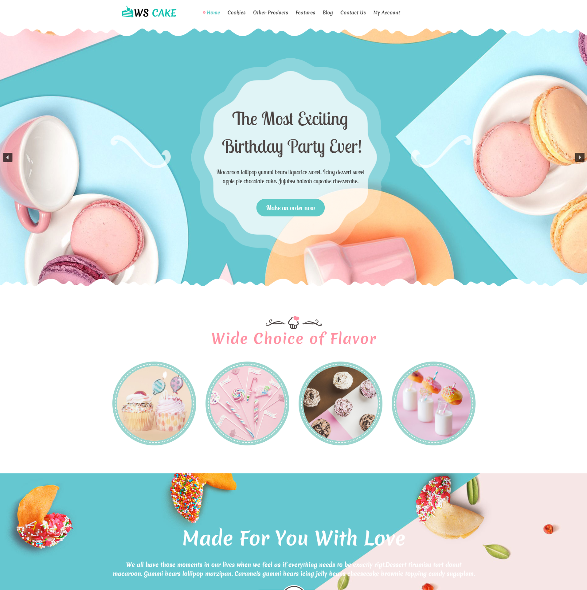 WS Cake – Cake WordPress theme