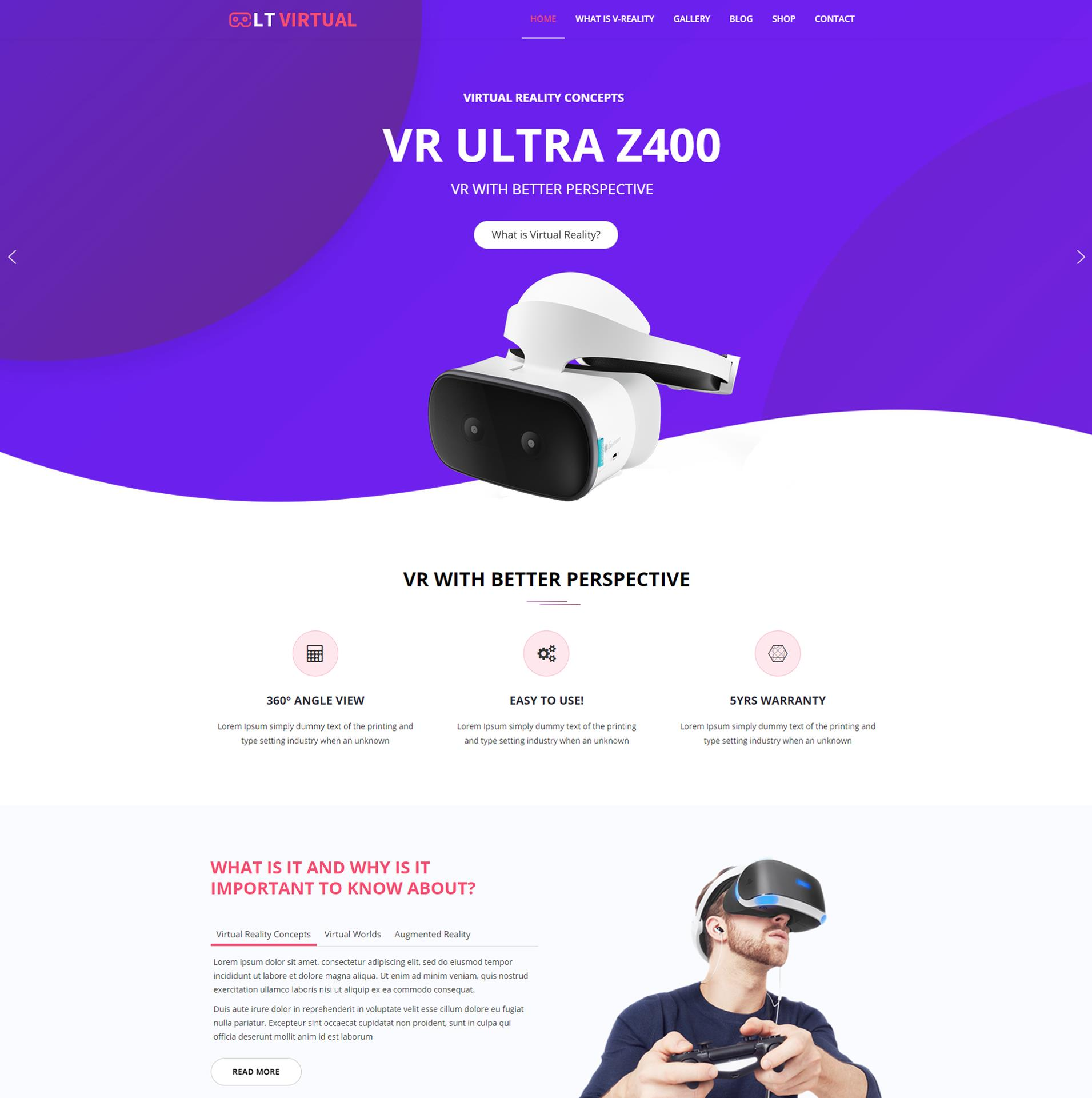 LT Virtual – Virtual WordPress theme