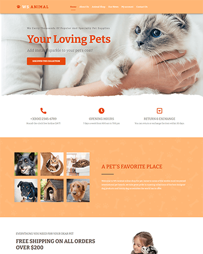 WS Animal – Free Pet Woocommerce WordPress Theme