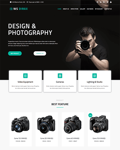 WS Dirax – Responsive Digital Cameras Woocommerce WordPress theme