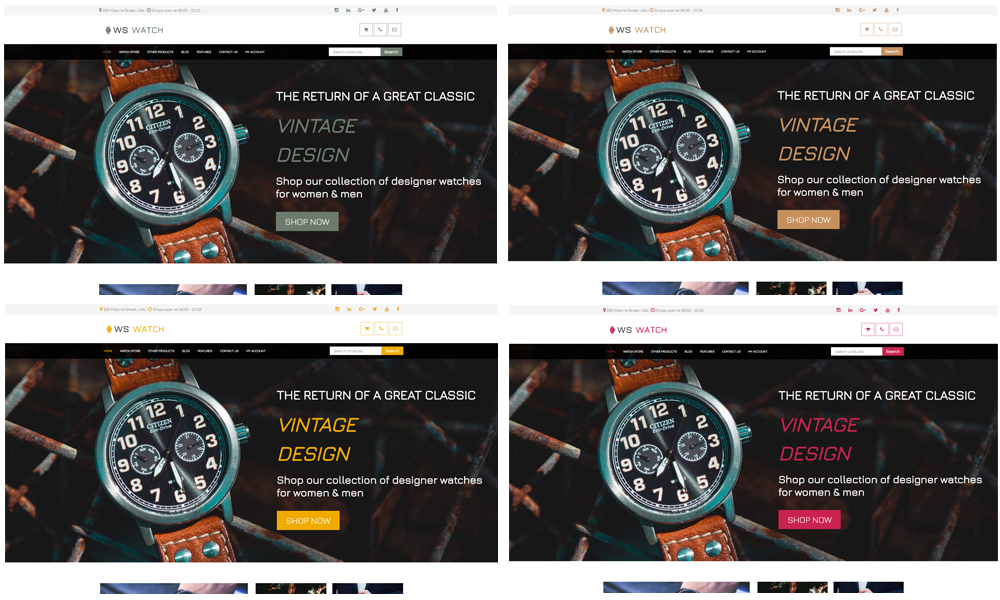WS Watch – Responsive Watch WooCommerce WordPress theme - LTHEME