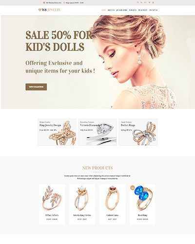 WS Jewelry – Responsive diamond jewelry wordpress theme