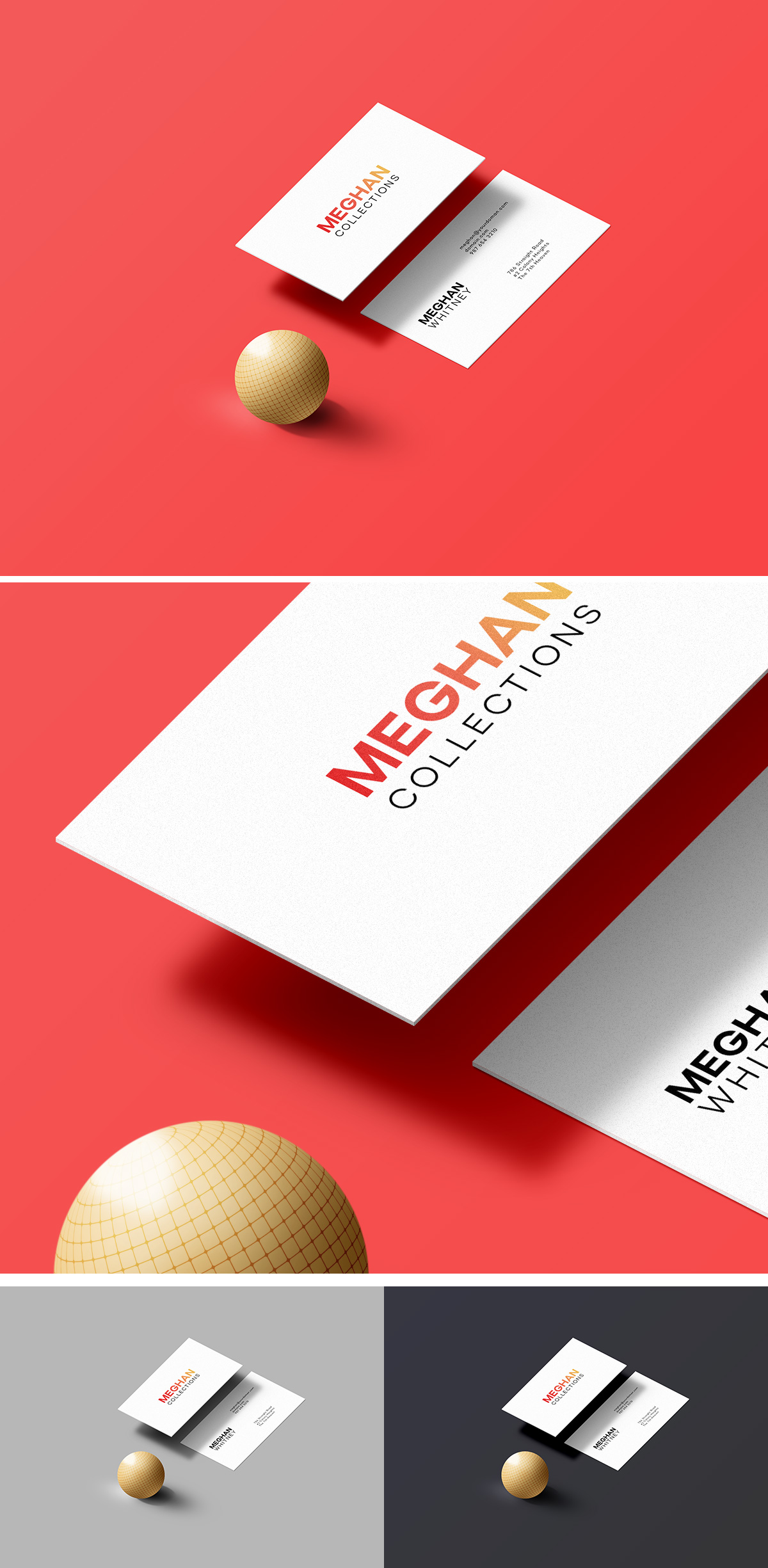Business Card Mockup Free Template In PSD