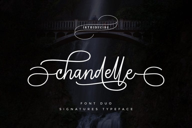 Chandelle Handwritten Signature Font