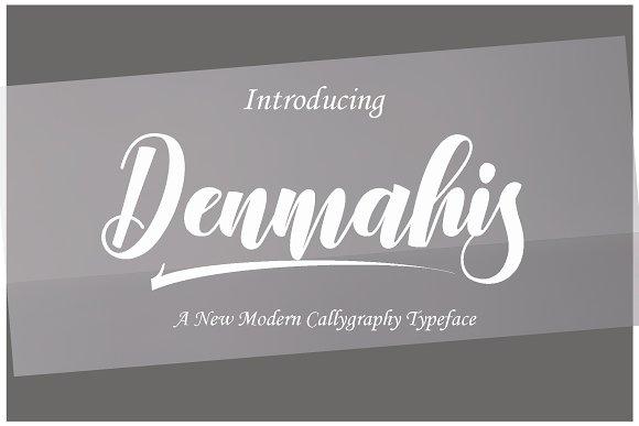 Denmahis Modern Calligraphy Script Font