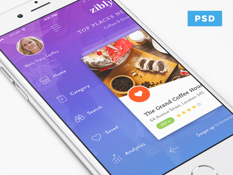 Discovery App Design In PSD