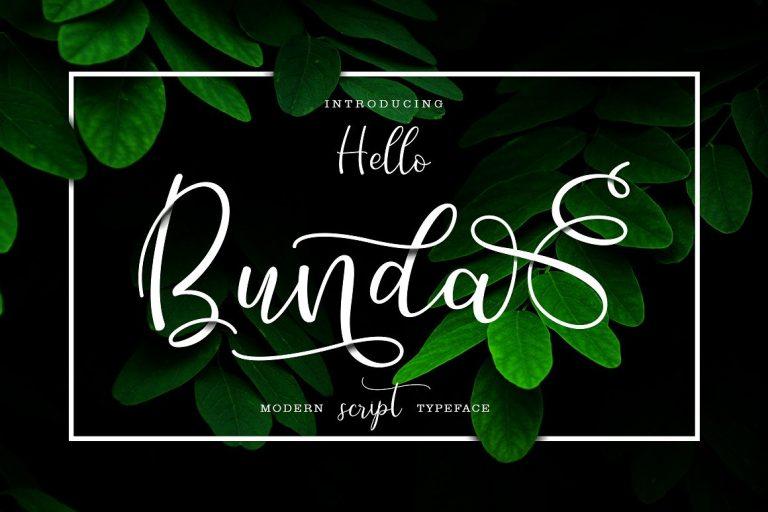 Hello Bunda Free Handwritten Calligraphy Font
