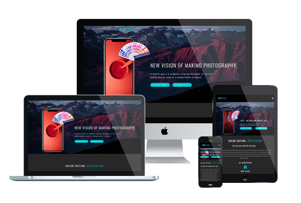 LT Foto - Premium Private App Joomla template