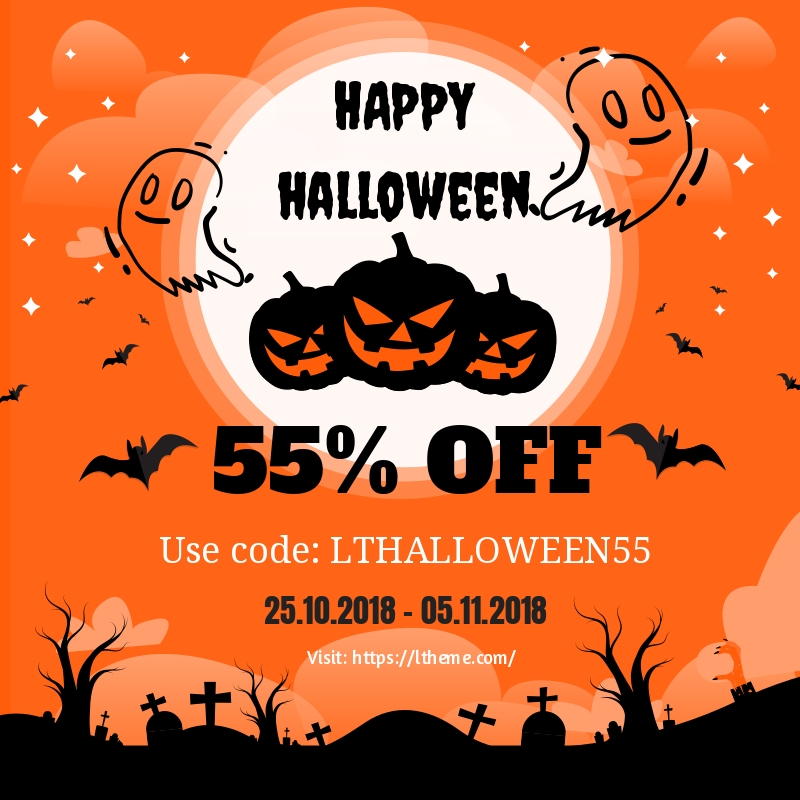 Greatest Halloween Deals From The Best Wordpress And Joomla Template