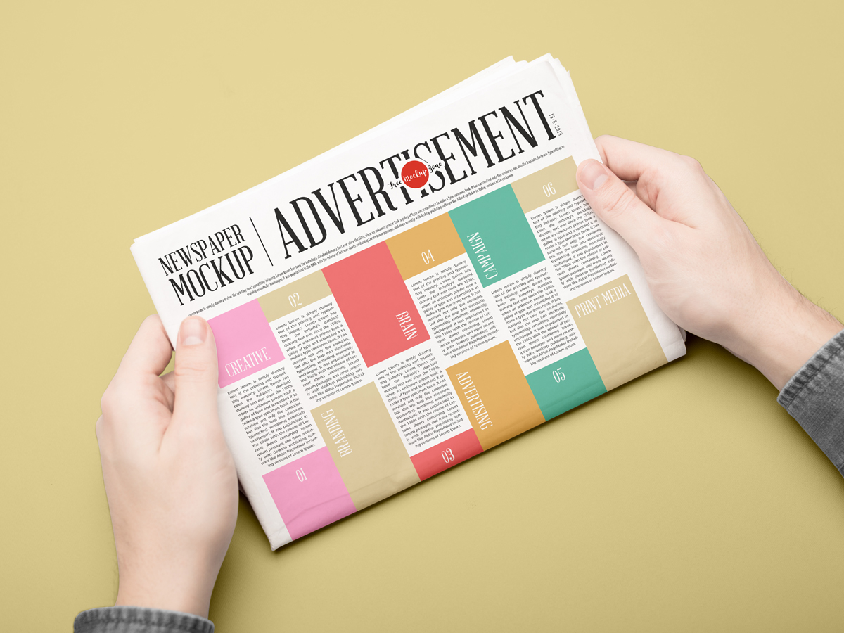 Newspaper Mockup PSD Template
