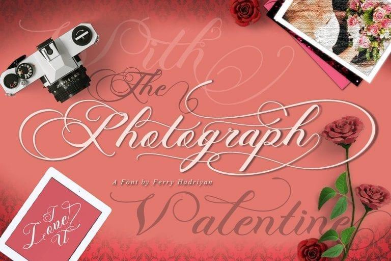Photograph Calligraphy Script Font