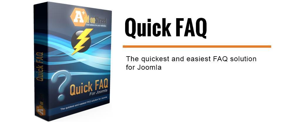 Quick FAQ Joomla FAQ extension