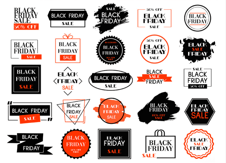 Set Of 50 Free Black Friday Label