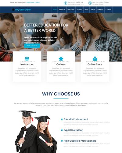 TPG University – Responsive Education WordPress theme