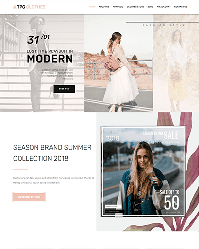 TPG Clothes – Responsive Clothing WordPress theme