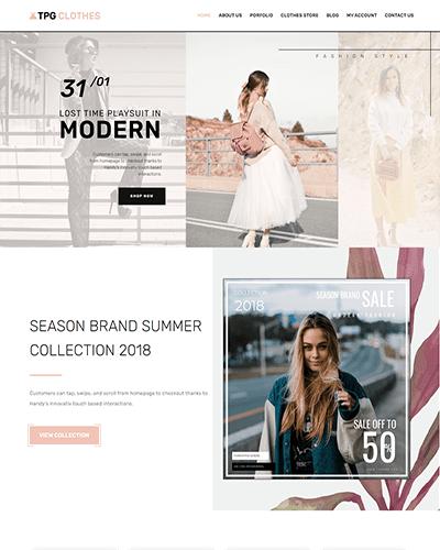 TPG Clothes – Responsive Clothing WordPress theme