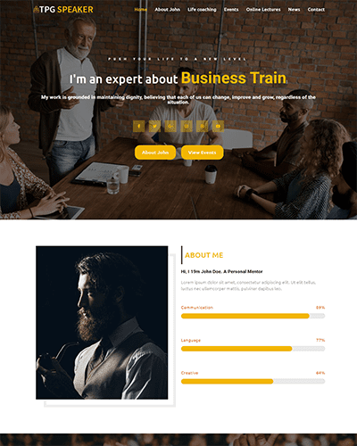 TPG Speaker – Responsive Conference WordPress theme