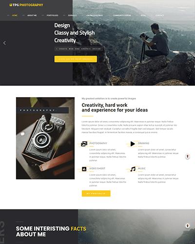 TPG Photography – Responsive WordPress Photo Gallery theme